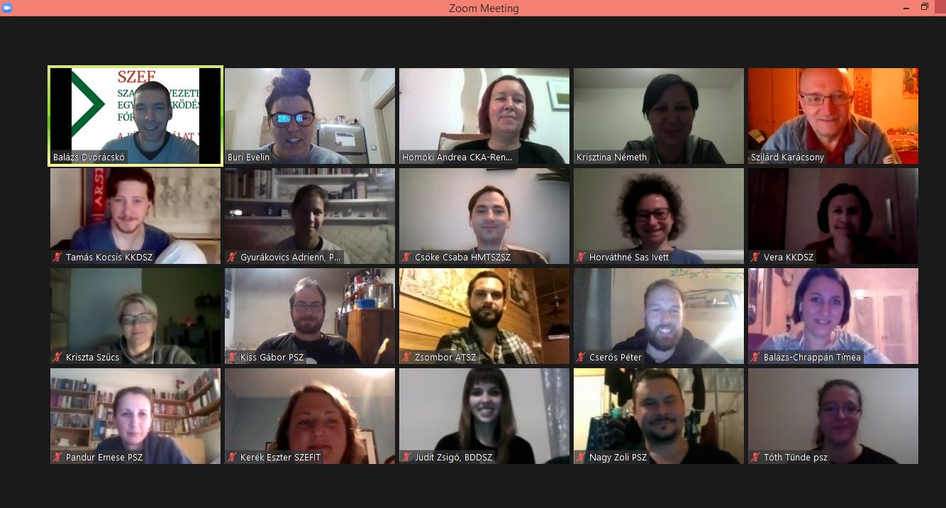 szervezet találkozó online